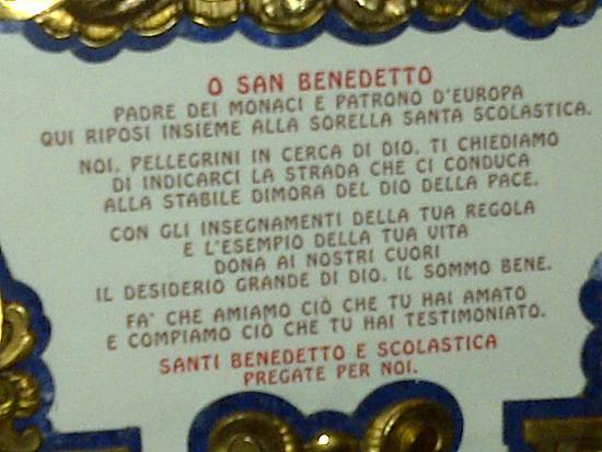 image prayer dedicated to Saint Benedict