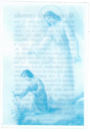 immagine santino Angelo Custode con preghiera