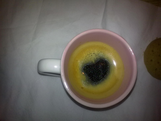 HEART IN COFFEE CUP