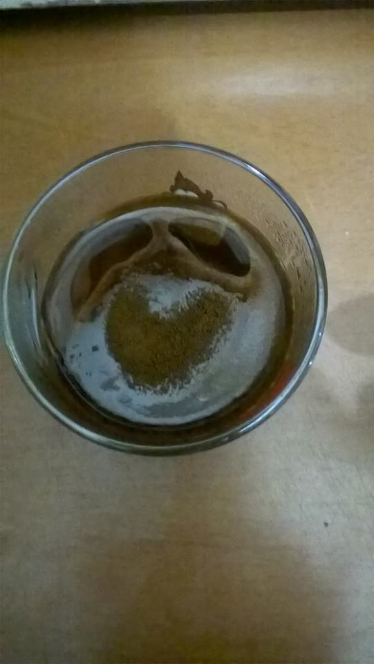 immagine di un cuore che si è formata nella tazza di orzo