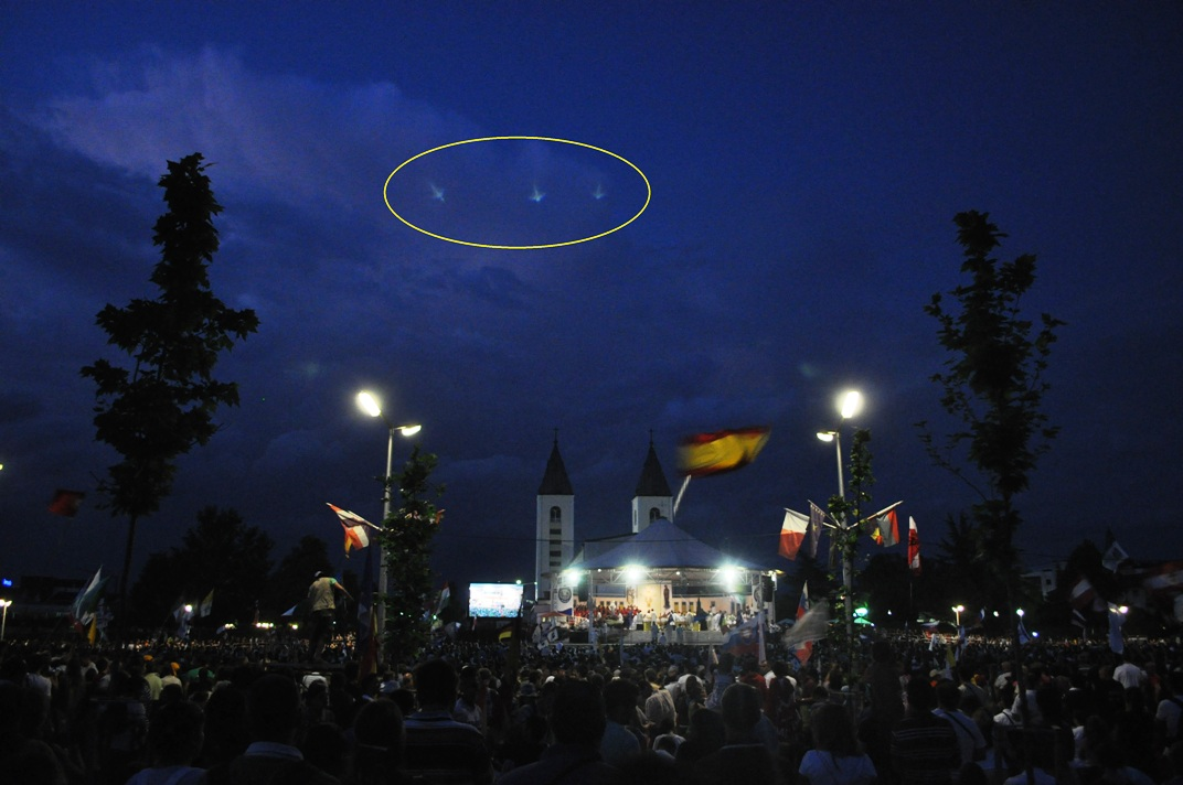 Photos of three Angels in Medjugorje