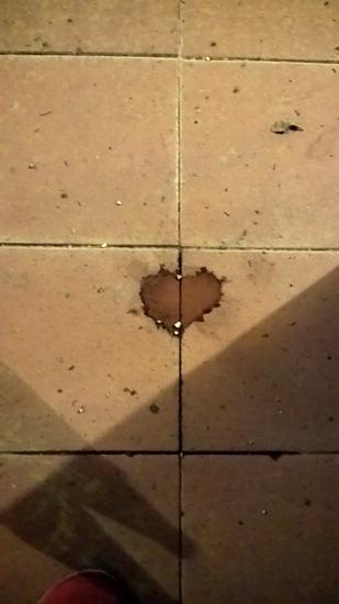 si forma un cuoricino sul pavimento