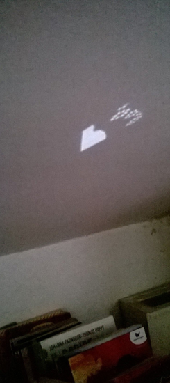 a heart reflected from the light on the floor